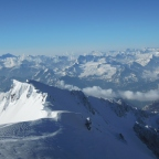 View on Italy from the Mont Blanc
